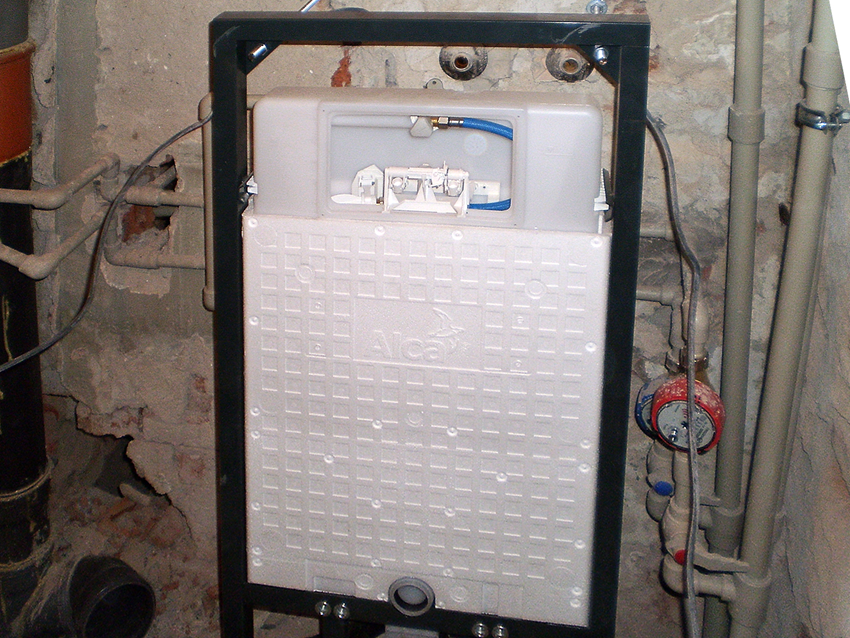 Installation of concealed cistern