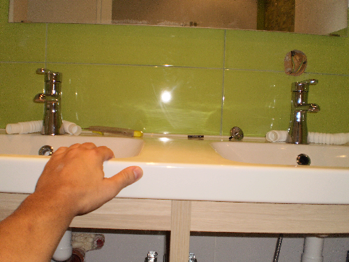Mount double sink