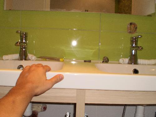 Mount double sink