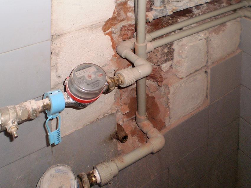 Installation of water meters