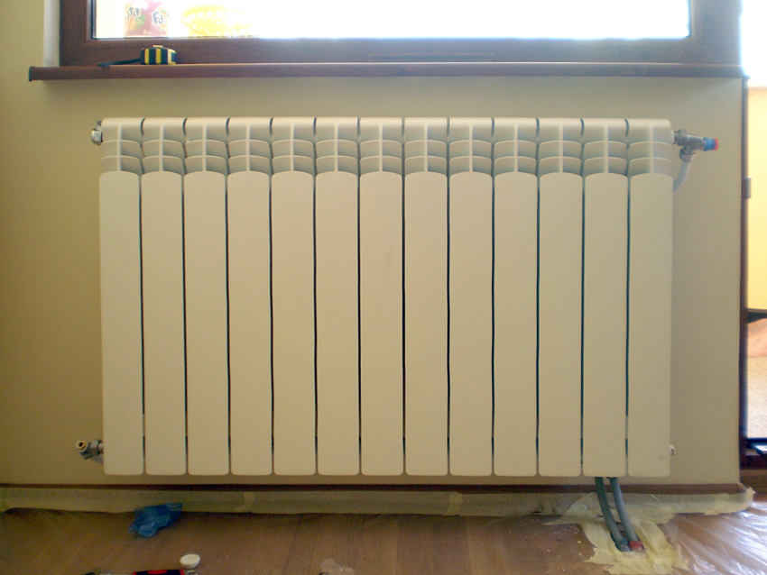 Installation of the aluminum radiator
