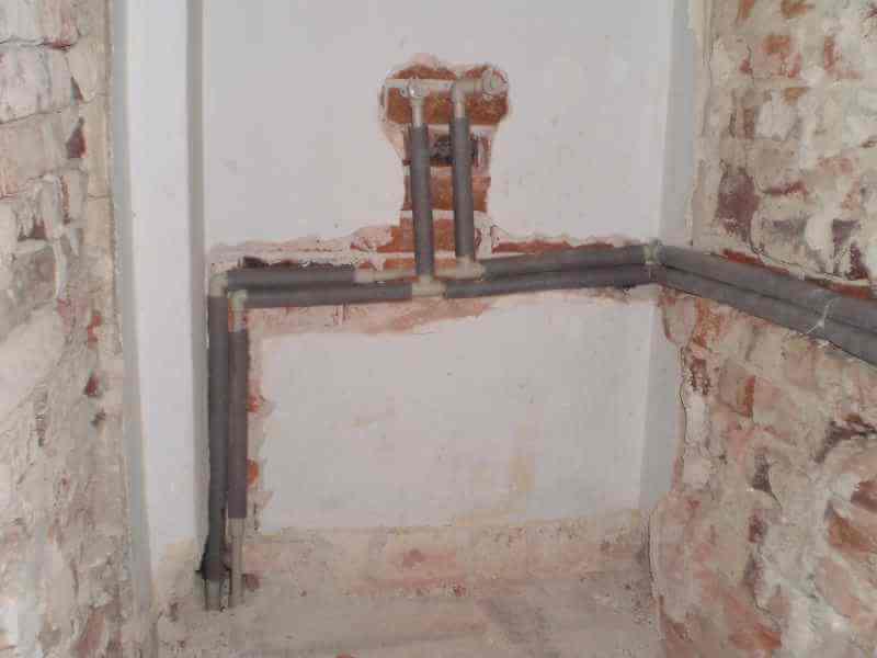 Shower water supply