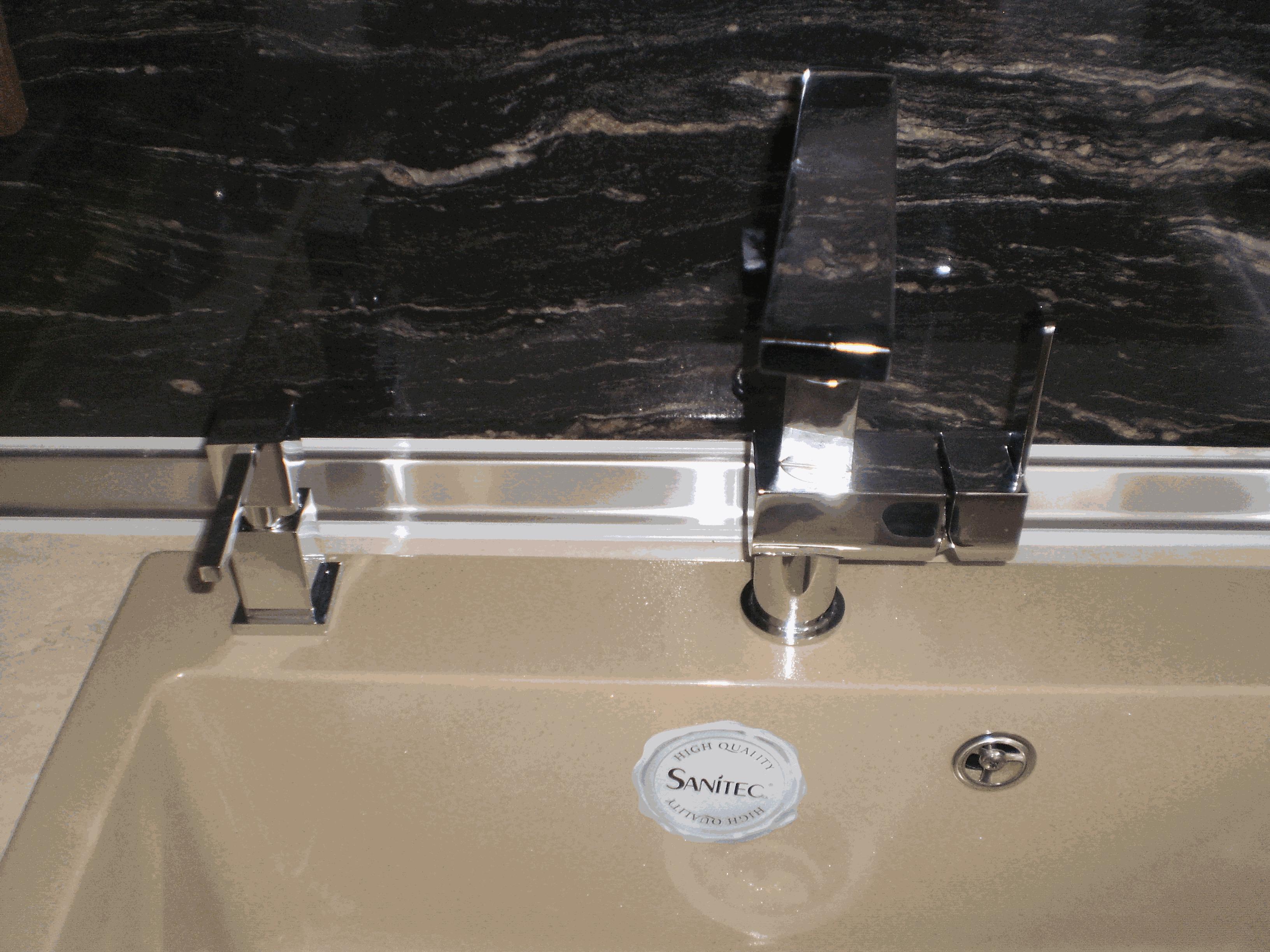 Installation of kitchen sink and dishwasher